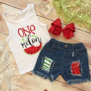 Boutique Girls ONE IN A MELON 3pc Outfit
